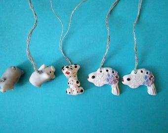 Handmade pottery animal pendants sale, Ceramics kids necklace pendant, Sale, Ceramic Pottery, Fish pottery, Animal pendant, Jewelry
