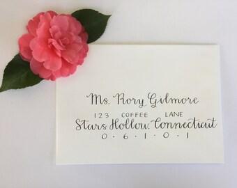 Calligraphy envelope addressing//wedding addressing