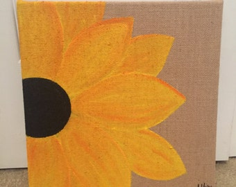 Burlap Sunflower