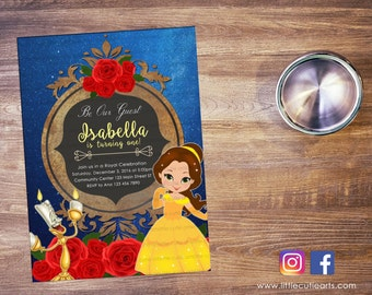 Belle from Beauty and The Beast Invitation