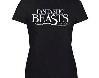 New Gildan T-Shirt Harry Potter Fantastic Beasts and Where to Find Them Tee Size S-XXL For Woman's