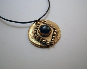 Onyx neckace handmade in bronze