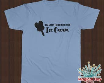 Disney Shirts - I'm just here for the Ice Cream (Black Design)