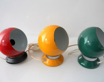 Danish designed magnetic wall lamps, sconces, Hamalux, Abo-Randers, vintage, retro.