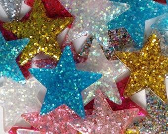 star cabochons mix (6 pcs)