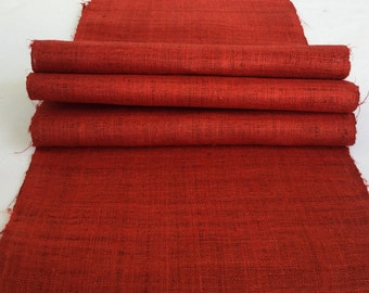 Hmong natural hemp fabric,vintage  hemp hand dyed Hmong hill tribe -Bed runner ,Table runner