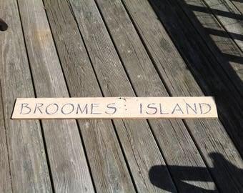 Broomes Island Sign