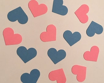 200 Heart Confetti Gender Reveal Confetti Baby Shower Confetti Birthday Confetti Shower Confetti Pink Blue Confetti Gender Reveal Party