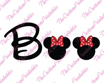Boo, Minnie, Mouse, Halloween, Disney, SVG, Cricut Files, Silhouette Files, Cameo, Vector, T-shirt,Iron On