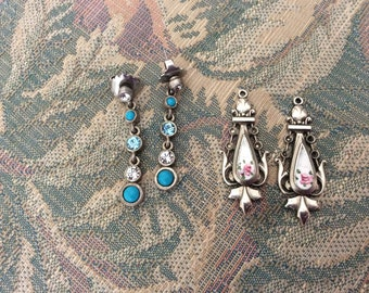 For Kim, Vintage Earrings, 2 Pair, One Pair Needs Attachments