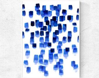 Blue watercolor art print, abstract blue art download, vibrant blue watercolor DIY wall art, 24x36, 18x24, 16x20, 11x14, 8x10, 5x7, 4x6