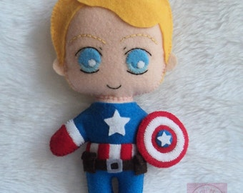 Steve Rogers Captain America Plush