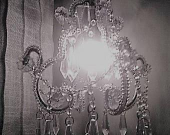 Hanging Jeweled Mini Chandelier
