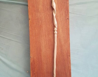 Handcarved Ash wood wand