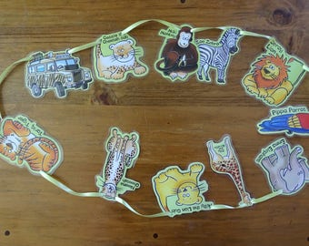 Zoo Animals Bunting, Safari Themed Bunting