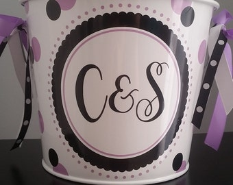 Personalized Bucket - 5 Quart / Gift Basket / Wedding Gift Basket / Beverage Pail