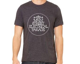 Disney Shirts Mens Main Street Electrical Parade Shirt disney shirt disneyland Shirt Disney World Shirt Magic Kingdom Shirt