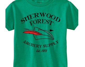 Toddler Disney Shirts Sherwood Forest Archery Supply Robin Hood Shirts  Disneyland Shirts Disney World Shirts Magic Kingdom Shirts