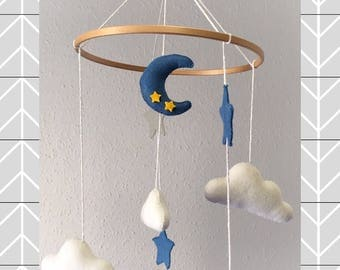 Mobile crib felt, Mobile's cradle, mobile baby,