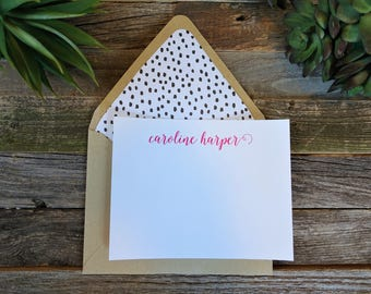 Simply Sweet Personalized Stationery Set