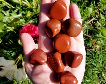 Large Red Jasper Tumbled Stones - 1 Large - Stone of Empowerment, Healing Emotional Wounds, Gate Against Exterior Influences