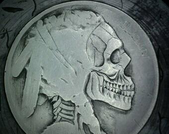 Skull Hobo Nickel by RS