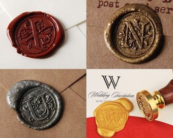 Alphabet Wax Seal Stamp-Letter Initial Wax Seal Stamp A-Z-Letter Stamp Kit-Wax Stamp Seal Set-Classic Font-European Style-Invitation Sticker