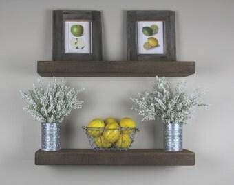 Floating Shelf- Rustic- Handmade- Floating Shelves- Farmhouse- Kitchen Shelf- Nursery Shelf- Bathroom Shelf- Fixer Upper