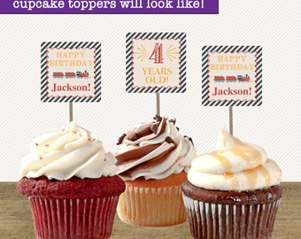 Train Party Supplies; Printable Train Cupcake Toppers; Train Printables; Train Party; Train Birthday Party Decorations