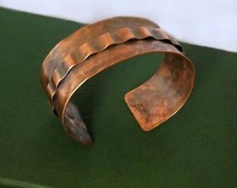 Copper ribbon cuff