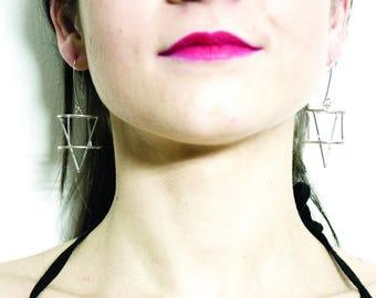 "Orecchini geometrici ""freccia"" earrings geometric ""arrow"" argento 925 Gold Silver Rings | Minimalistic"