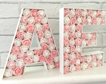Shabby chic wood letter, Wedding decor, Wedding initials, Bride and Groom sign, Large wooden letters, Wedding letters, Wooden monogram