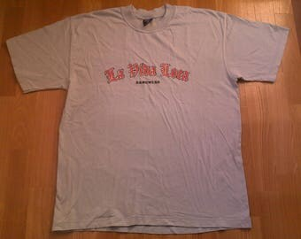Vintage Los Angeles jersey, La Vida Loca lowrider t-shirt, Chicano shirt, 90s hip-hop clothing, 1990s hip hop, OG, Fubu gangsta rap, size L