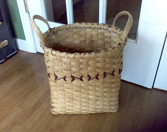 Hand Woven waste paper basket, trash can, bath room, office, Basket, Handmade