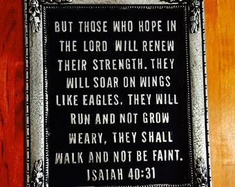 Isaiah 40:31 Bible Verse Wall Plaque/Paper Weight
