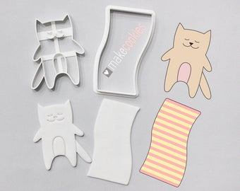 Cat On The Beach Cookie Cutter