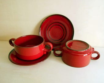 vintage soup bowl set of 2 / Germany / 1970s