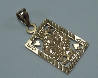 """14K Yellow Gold """"King of Hearts"""" Pendant"""