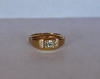 Vintage 18 KT HGE Ring, 18 kt HGE Ring, Gold Ring