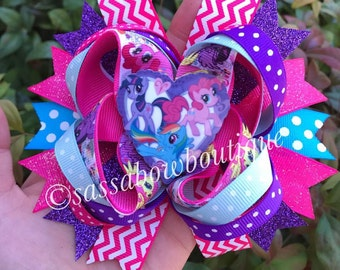 My Little Pony - My Little Pony bow - My Little Pony Hairbow - Inspired