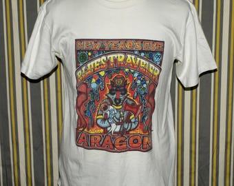 Rare Vintage Blues Traveler Black Cat Bash 1998 Concert Tour Graphic T-shirt Size L
