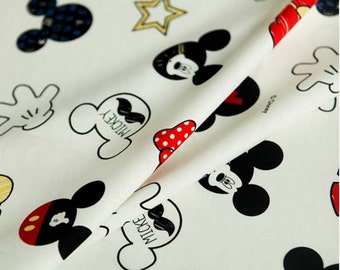 Disney Mickey Mouse Character Fabric made in Korea by the Half Yard