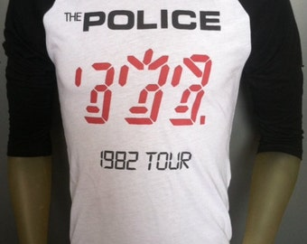 The Police t-shirt british classic rock music tour band jersey sting ghost in the machine 1982