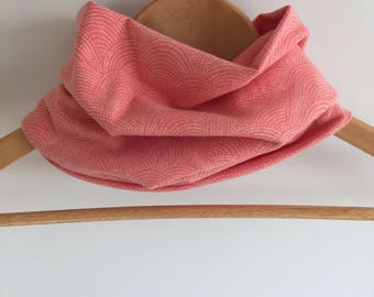 Baby scarf; infinite; child gift; girl; salmon pink