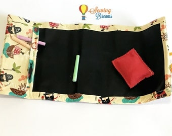 Travel Chalkboard Roll-Up - Pirates