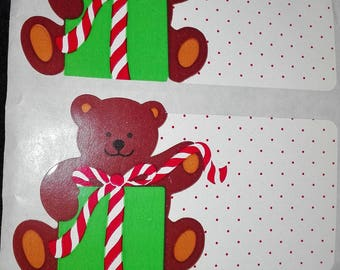 Plastic embroidery piece maxi rarity bear 2