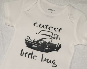 Cutest little bug vw retro  boy girl onesie bodysuit toddler tshirt