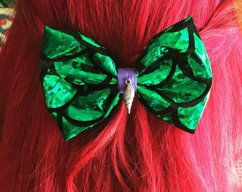 Disney inspired Barrette hair bow Arielle