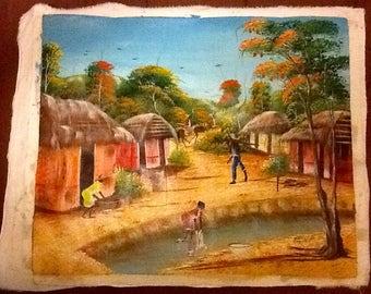 """Haitian Art  """"Chores"""""""