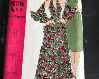 Vintage Dress Pattern Family Circle 59.
